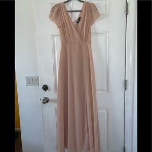 Nude lulus flowy dress